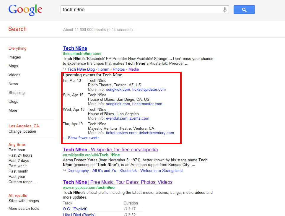 Event-Rich-Snippets