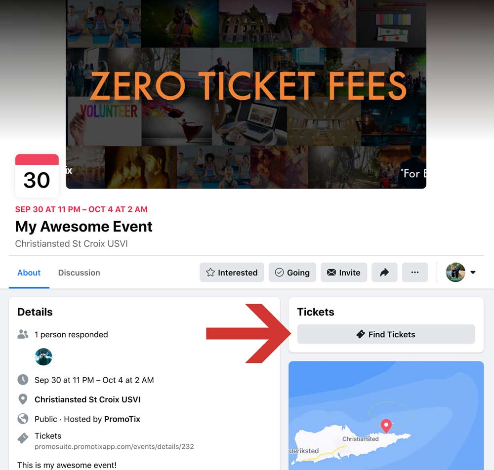 Facebook Event Desktop Find Tickets