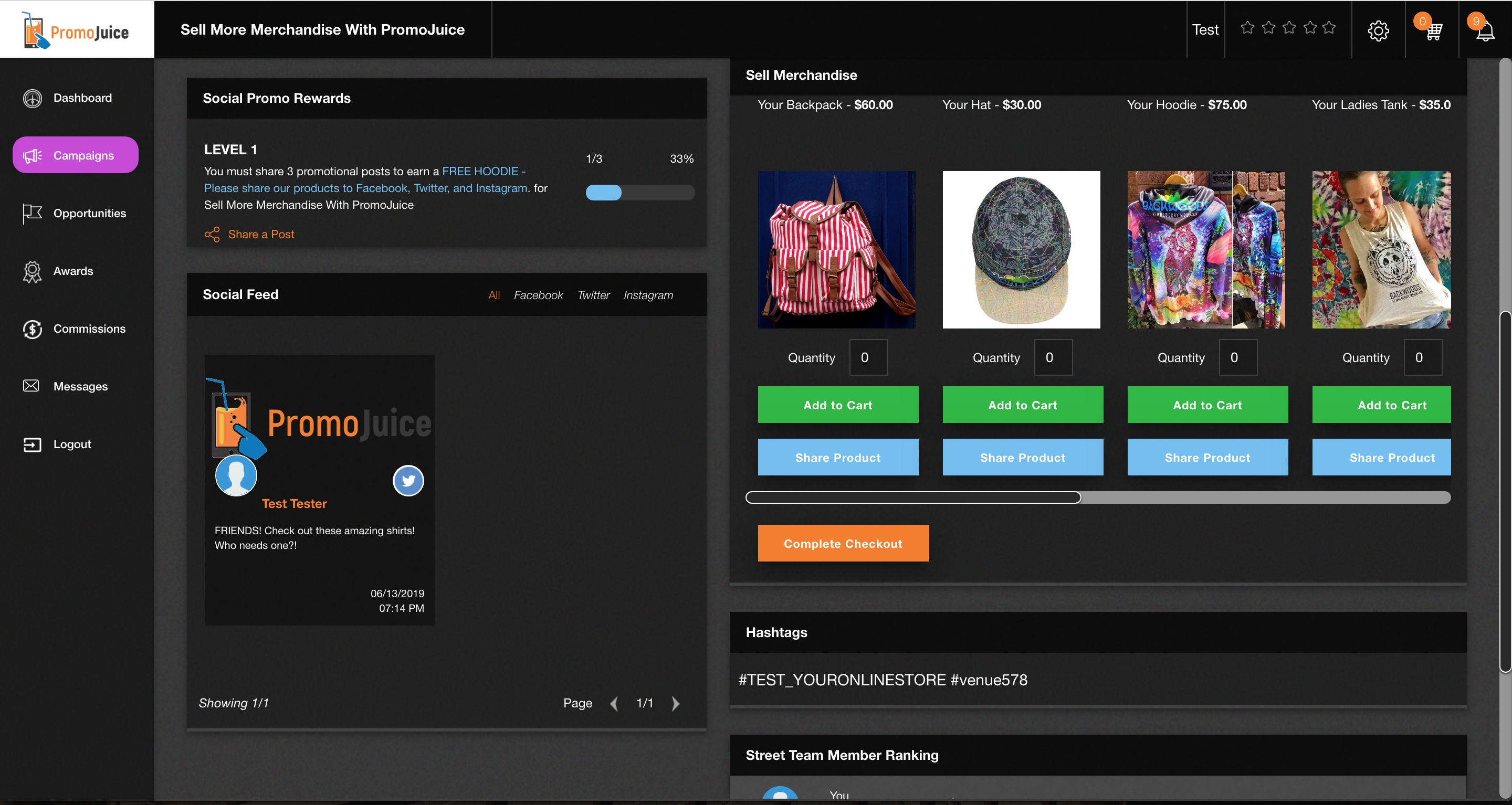 Upload your Products to PromoJuice