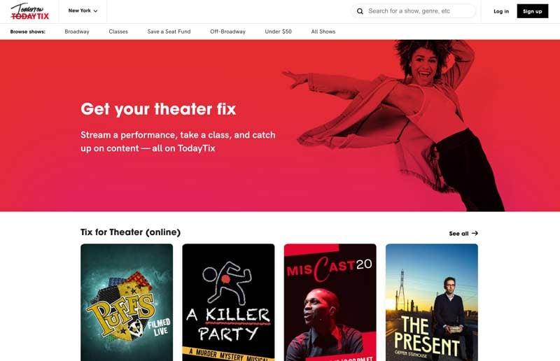 TodayTix Website